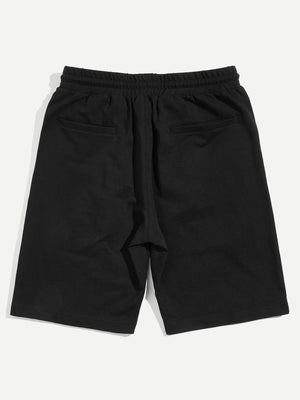 Men's Shorts - Drawstring Waist Letter Shorts