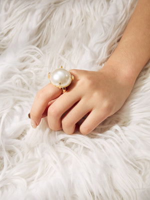 Fashion Rings - Faux Pearl Decorated Ring
