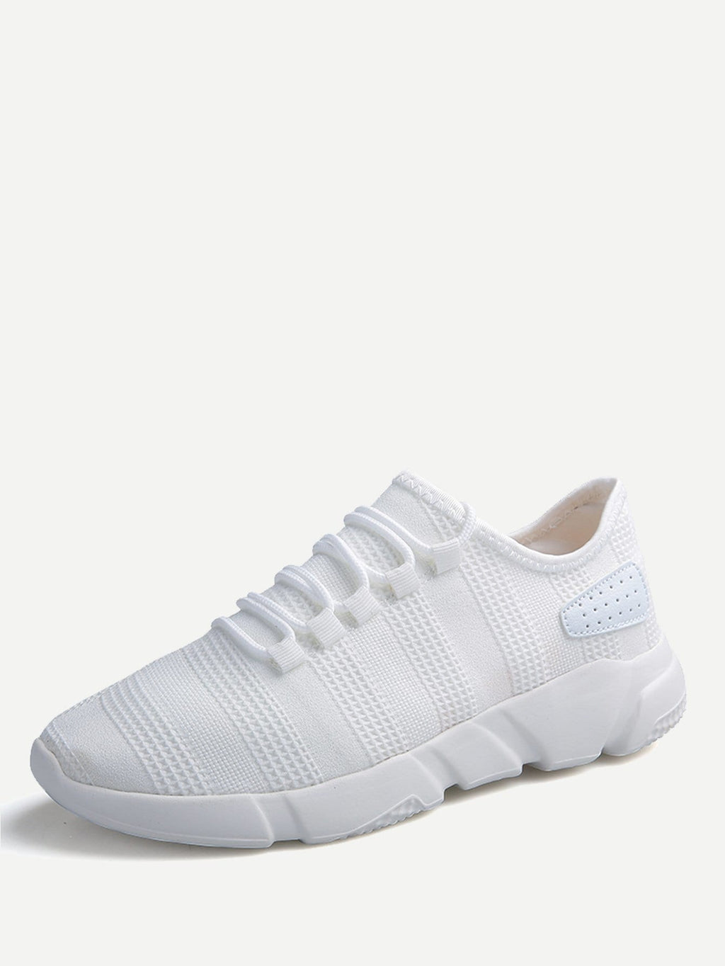 Men's Shoes - Lace Up Fly Knit Sneakers