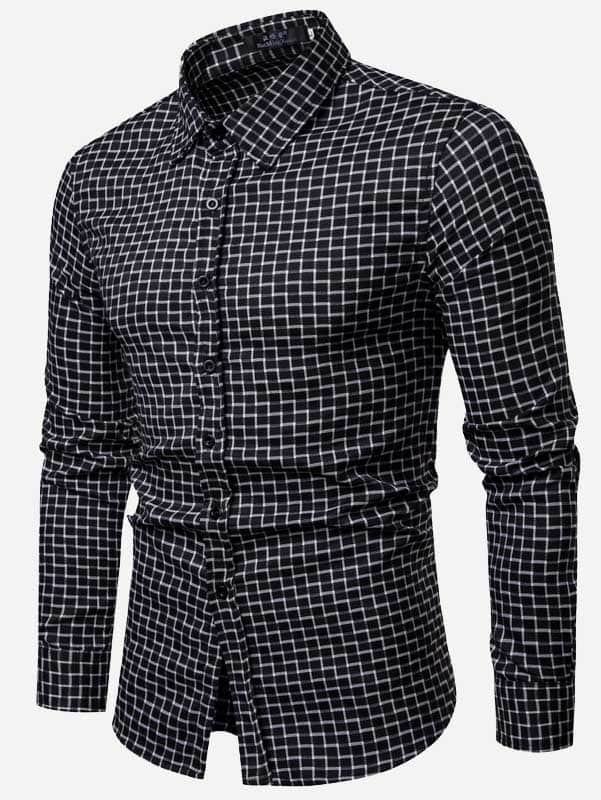 Men's Formal Shirts - Gingham Print Shirt