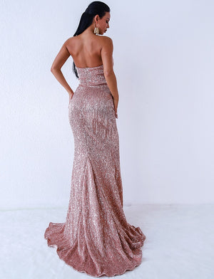Evening Gown - Champagne Gold Gown