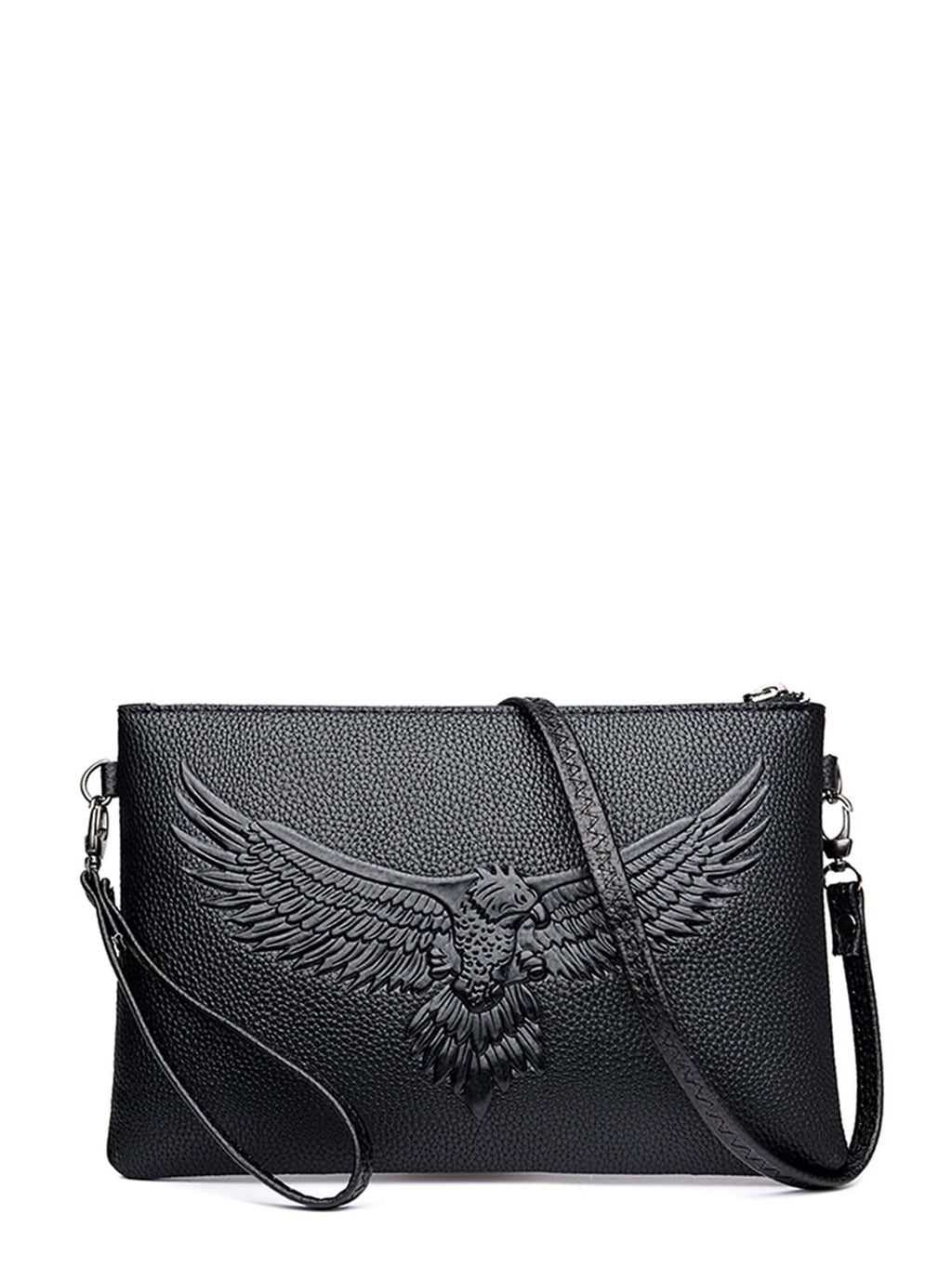 Shoulder Bags - Men Eagle Embossed Clutch Bag