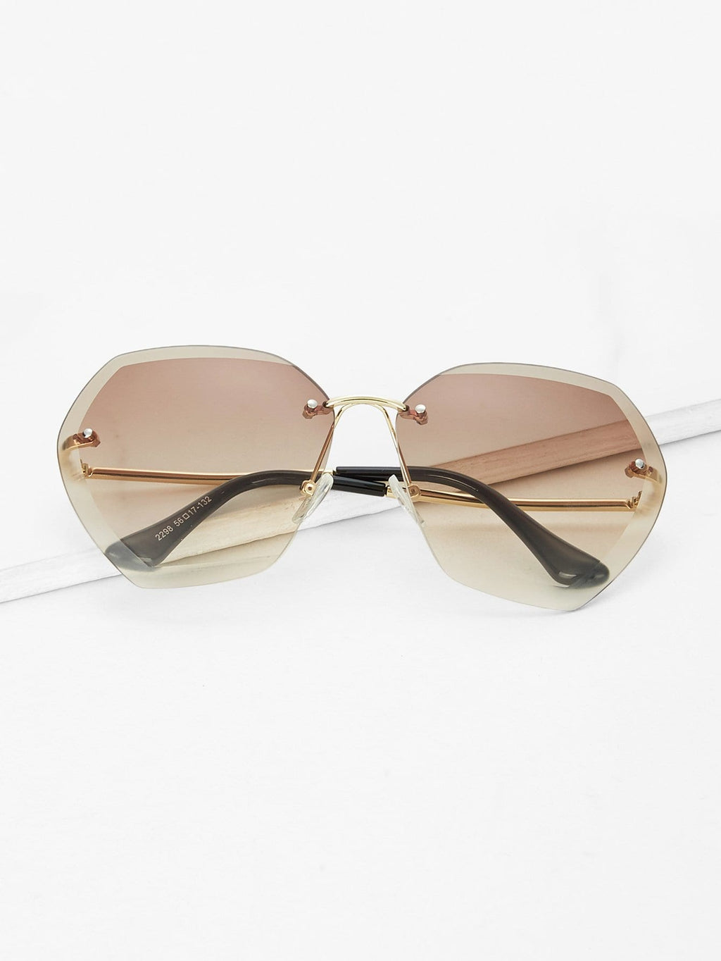 Sunglasses For Women - Rimless Oversized Sunglasses
