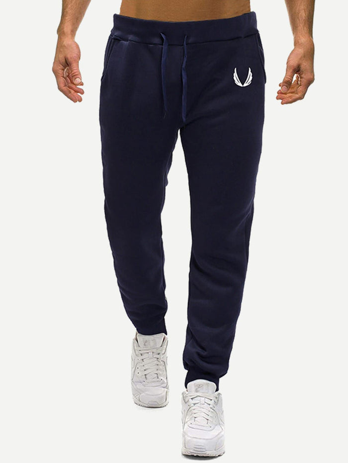 Men's Joggers - Geometric Print Drawstring Pants
