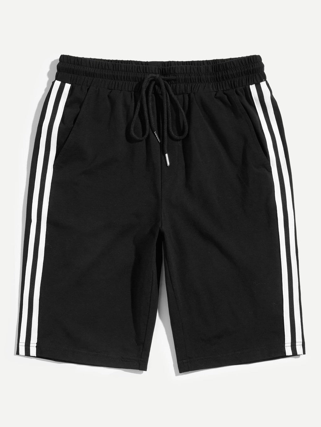 Men's Shorts - Drawstring Waist Striped Shorts