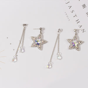 Earrings - Long Star Tassel Earrings
