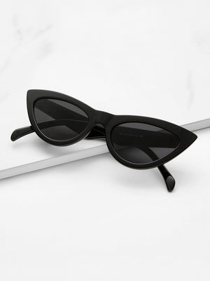 Sunglasses For Women - Cat Eye Flat Lens Sunglasses