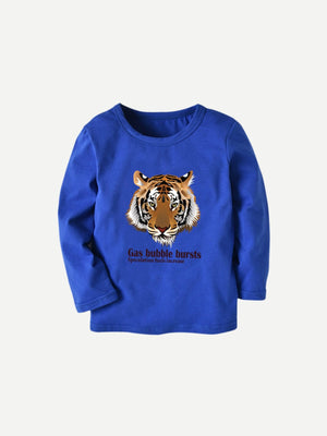 Toddler Boys Tiger & Letter Print Tee