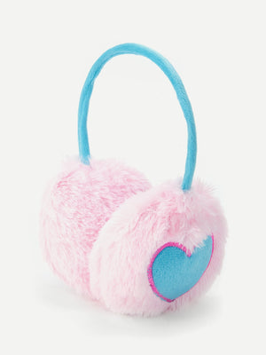 Kids Accessories - Girls Heart Pattern   Earmuff