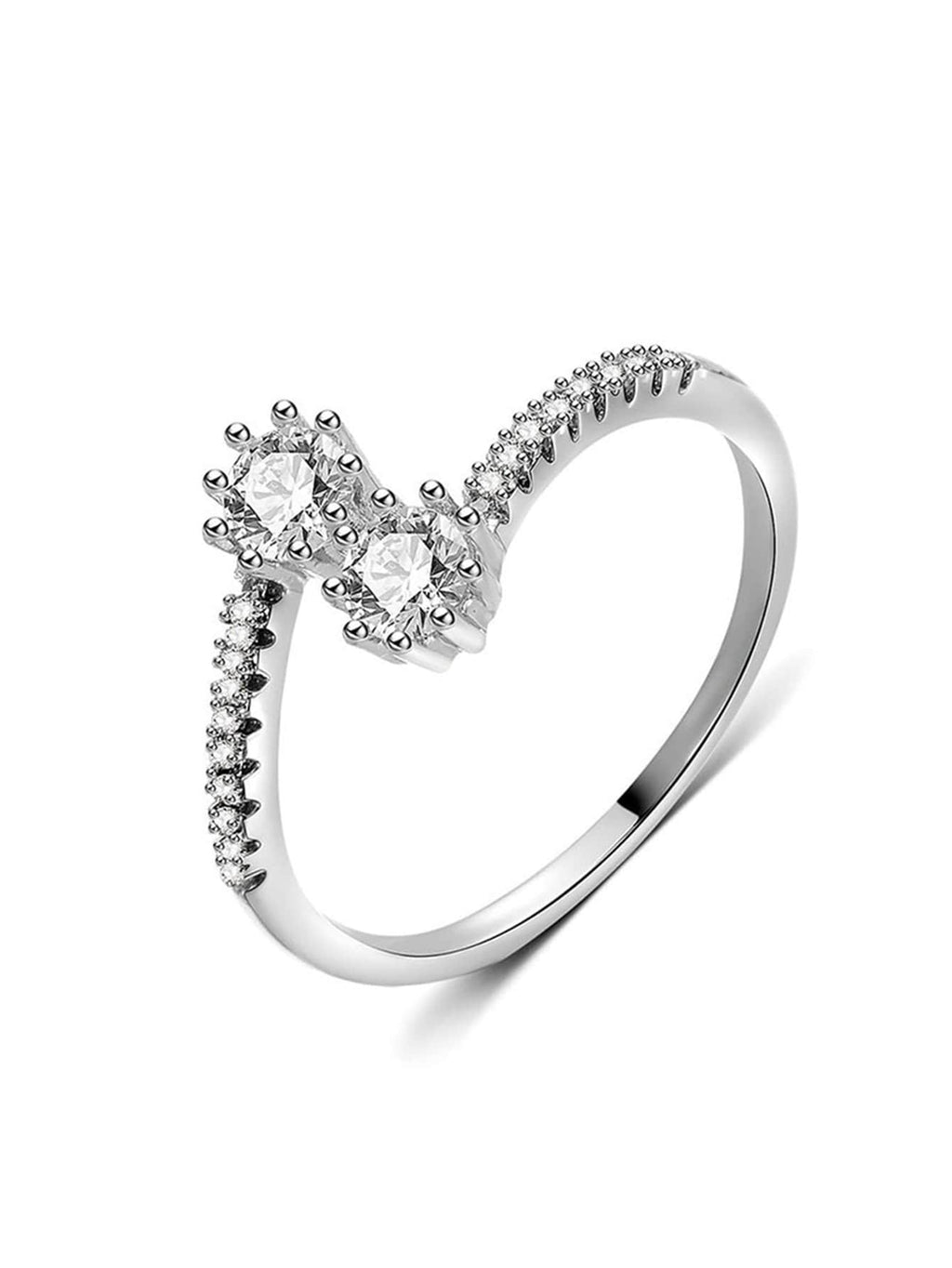 Casual Rings - Rhinestone Engraved Ring