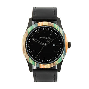 Men's Watches - Inverness | Multi Bamboo | Black Leather