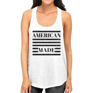 American Made Womens Cotton Tank Top Cute 4th Of July Design