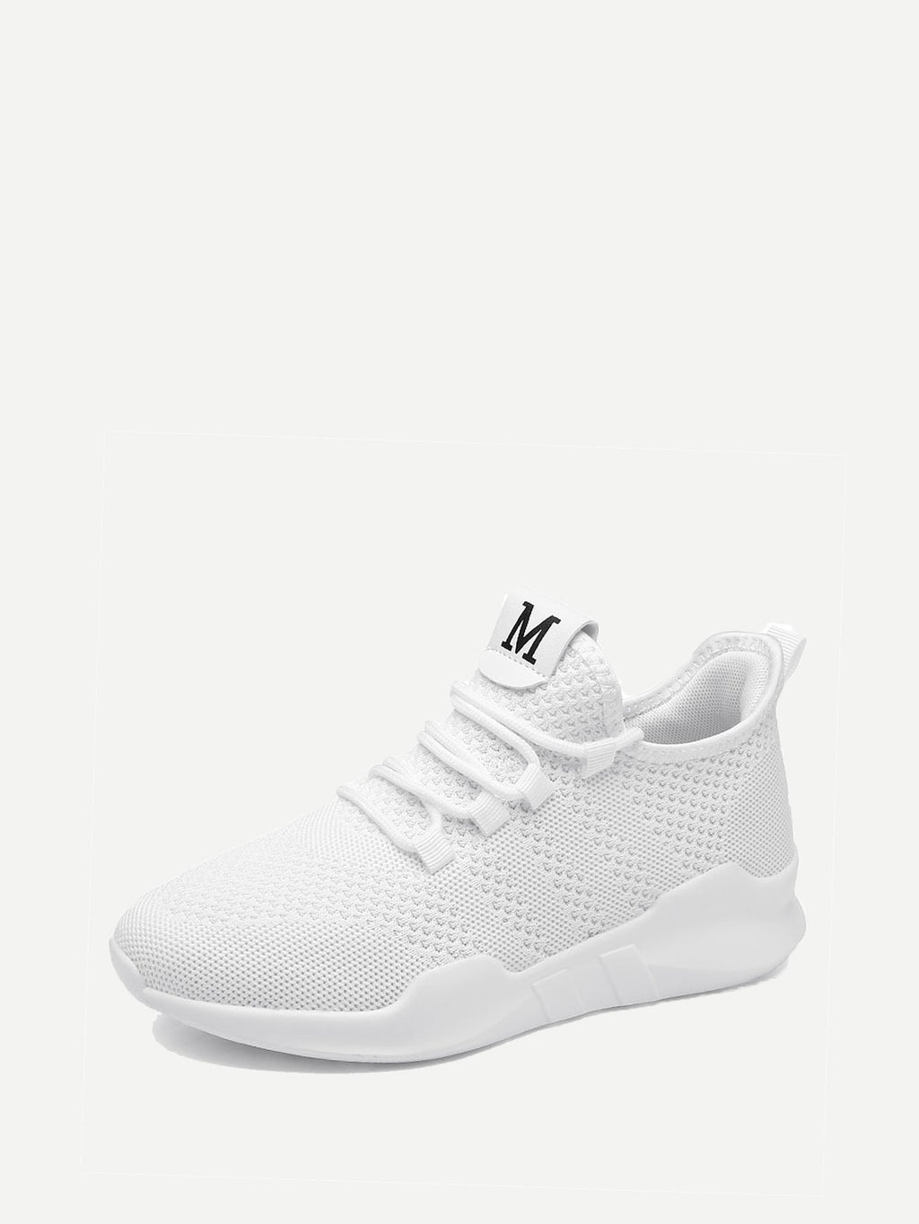 Womens Sneakers - Lace Up Fly Knit Sneakers