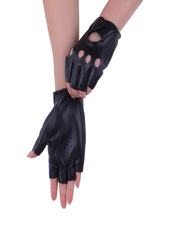 Driving Gloves - Hollow Out Half Finger Gloves