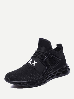 Men's Sports Shoes - Textured Embossed Mesh Sneakers