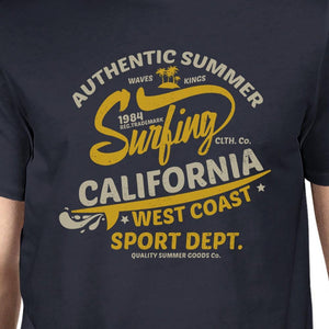Authentic Summer Surfing California Mens Navy Shirt