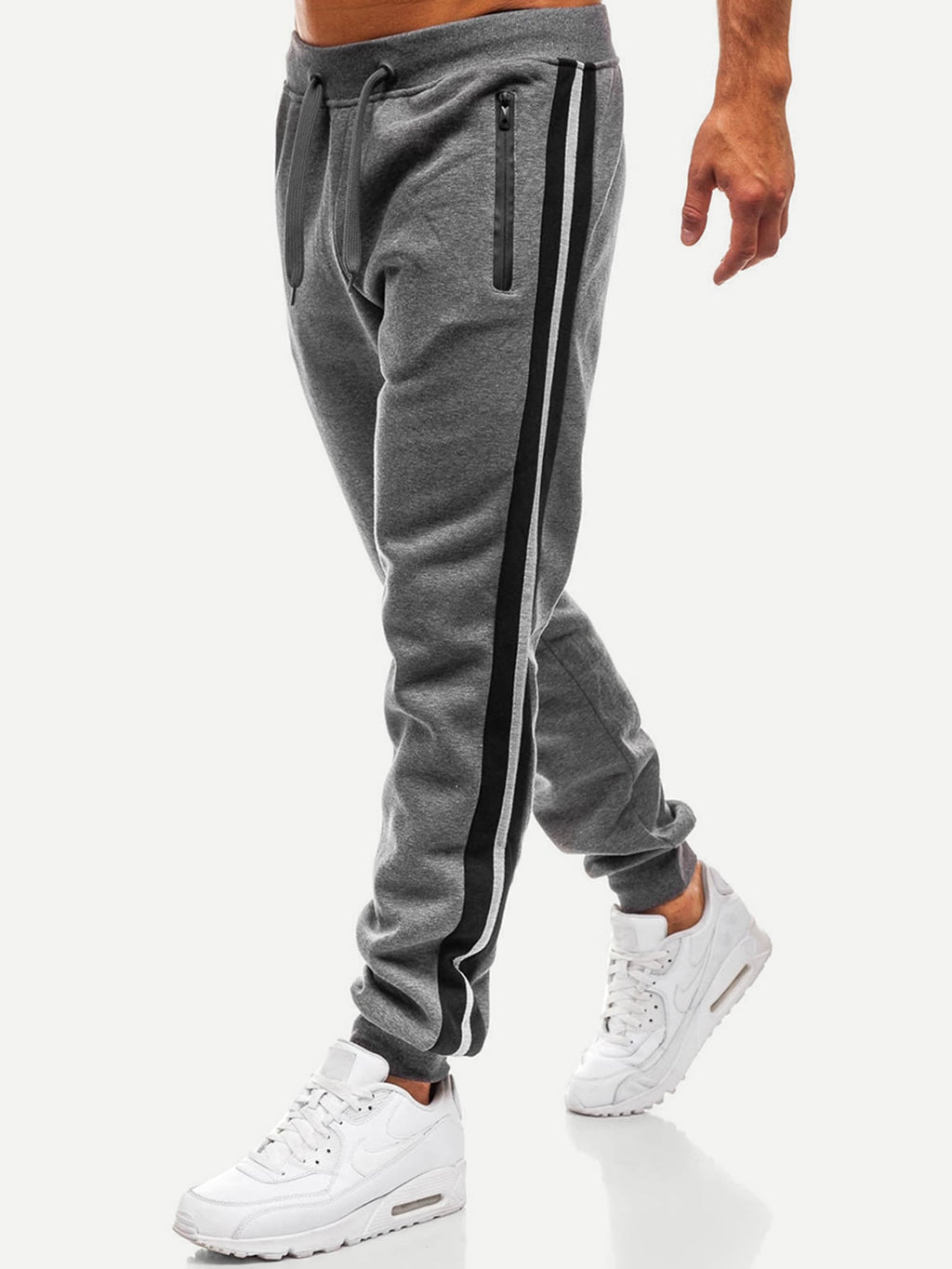 Men's Activewear - Cut And Sew Side Drawstring Waist Pants