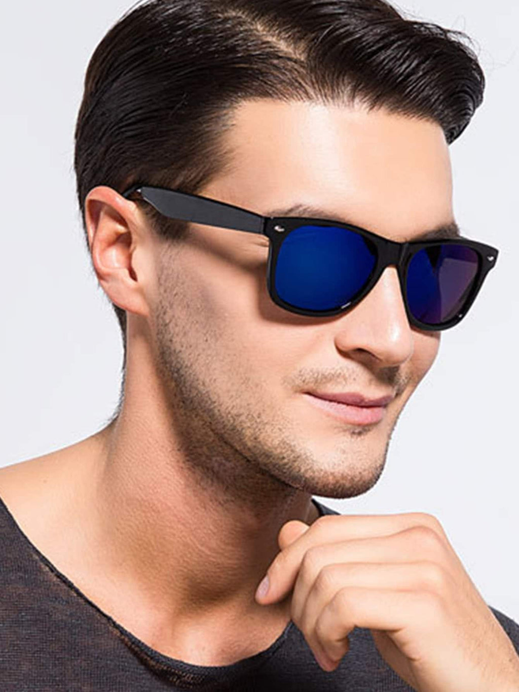 Sports Sunglasses - Men Mirror Lens Sunglasses