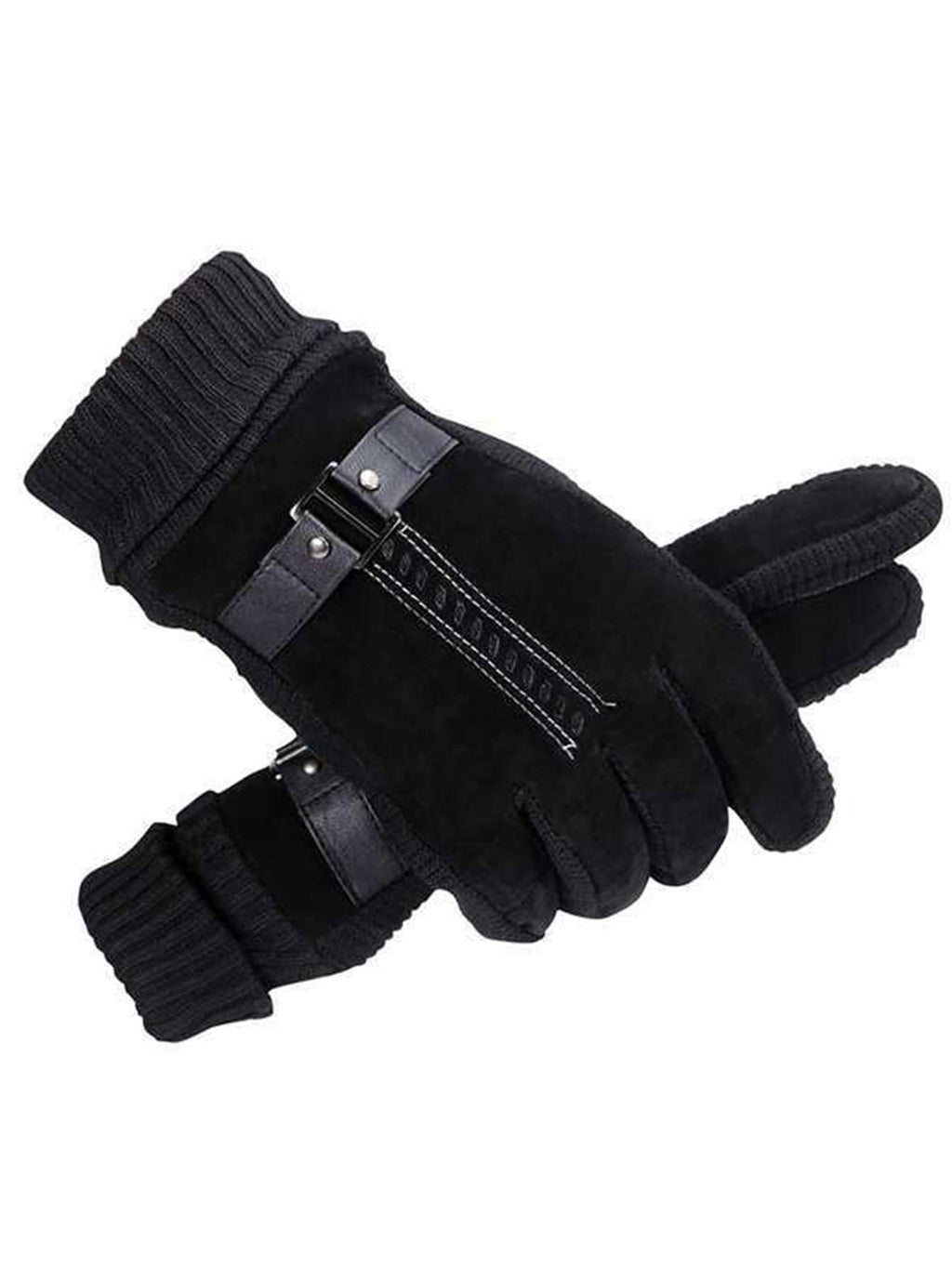 Men's Gloves - Contrast Knit Gloves 1pair