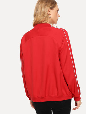 Women's Activewear - Raglan Sleeve Zip Up Jacket
