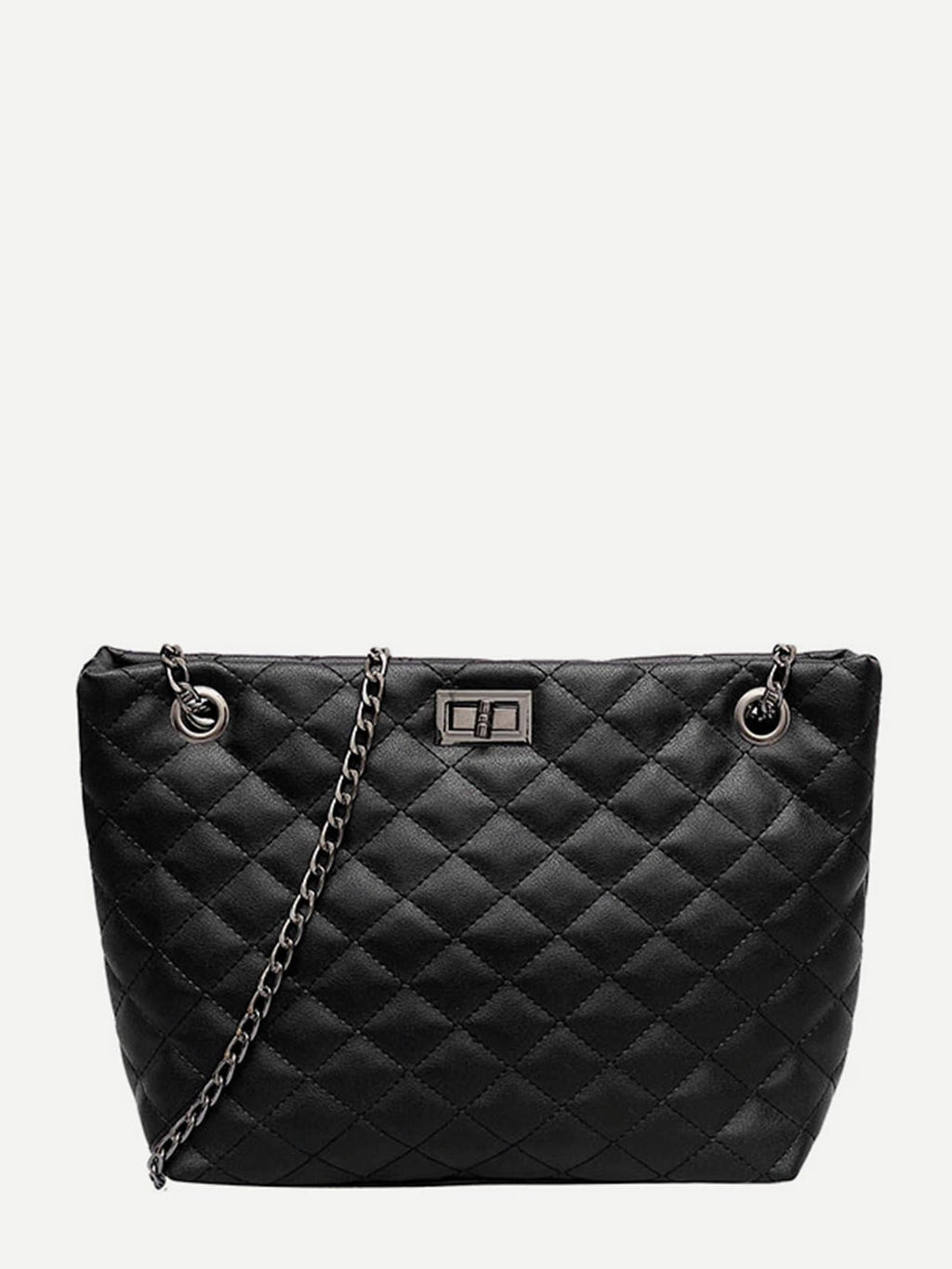 Purse For Women - Quilted Detail Chain Bag