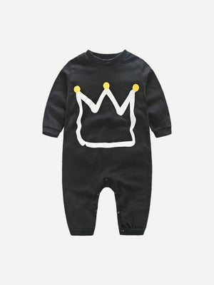 Toddler Boy Jumpsuits - Geometric Print Jumpsuit