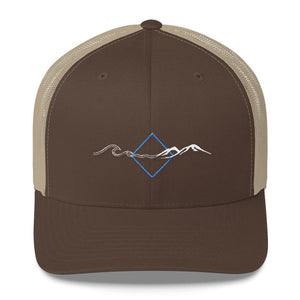 Men's Caps - Find Your Coast Tilt Mesh Back Vintage Trucker Cap