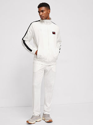 Men's Tracksuit - Zip Up Striped Coat & Pants Set