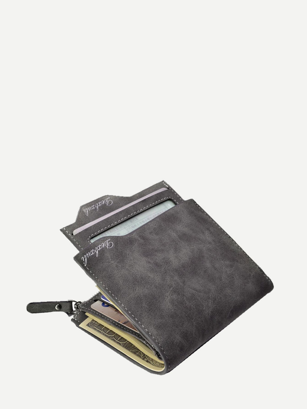 Men's Wallets - Fold Over Wallet With Coin Pocket