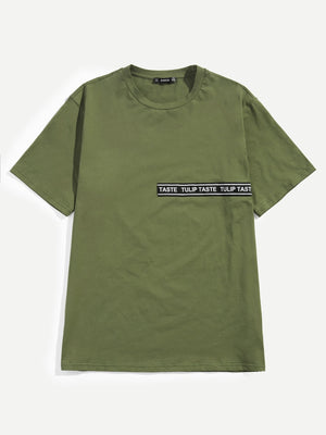 Men's Apparel - Lettering Tape Front Tee