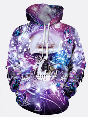 Men's Hoodies - Men 3D Skull Print Hooded Sweatshirt