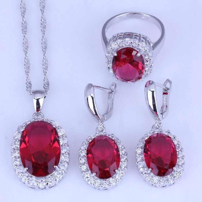 Jewelry For Women - Sterling Silver Natural Ruby Gemstone