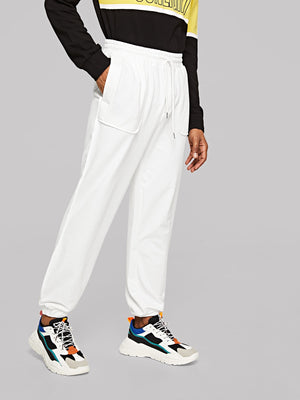 Men's Nightwear - Patch Pocket Detail Seamed Sweatpants