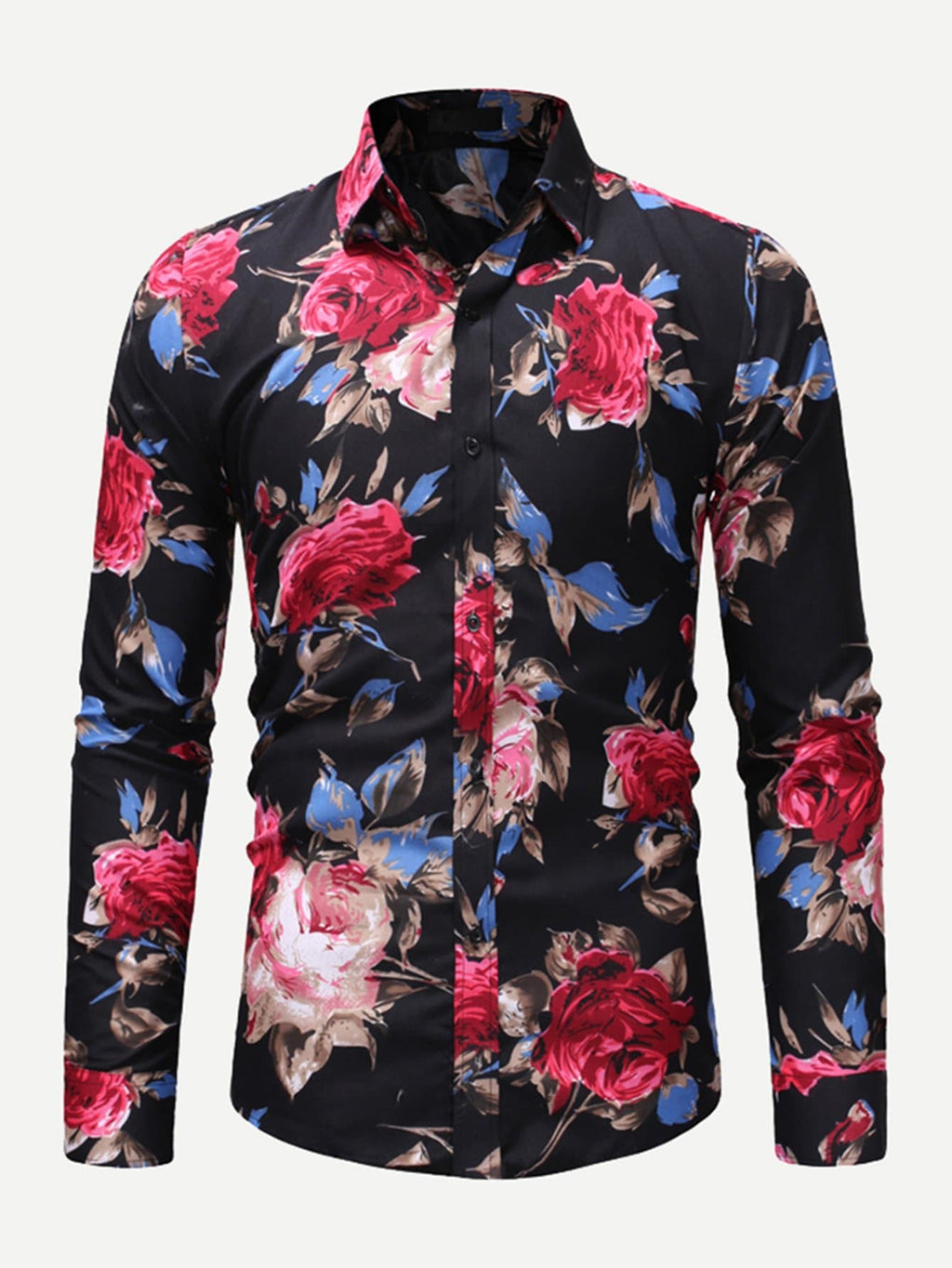 Holiday Shirts For Men - Men Allover Floral Print Shirt