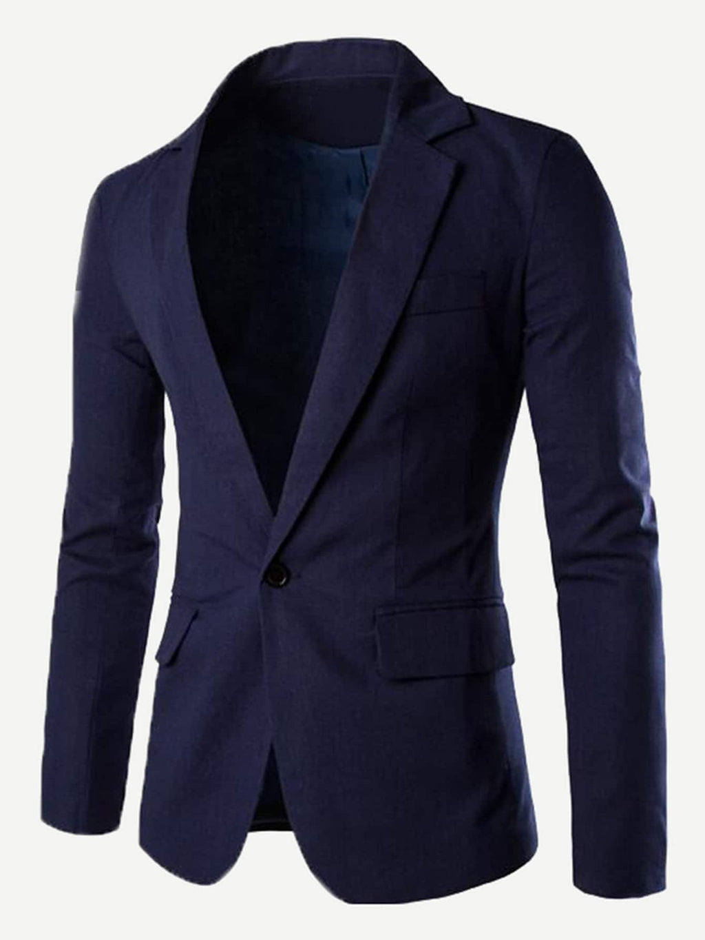 Men's Blazers - Plain Single Button Blazer
