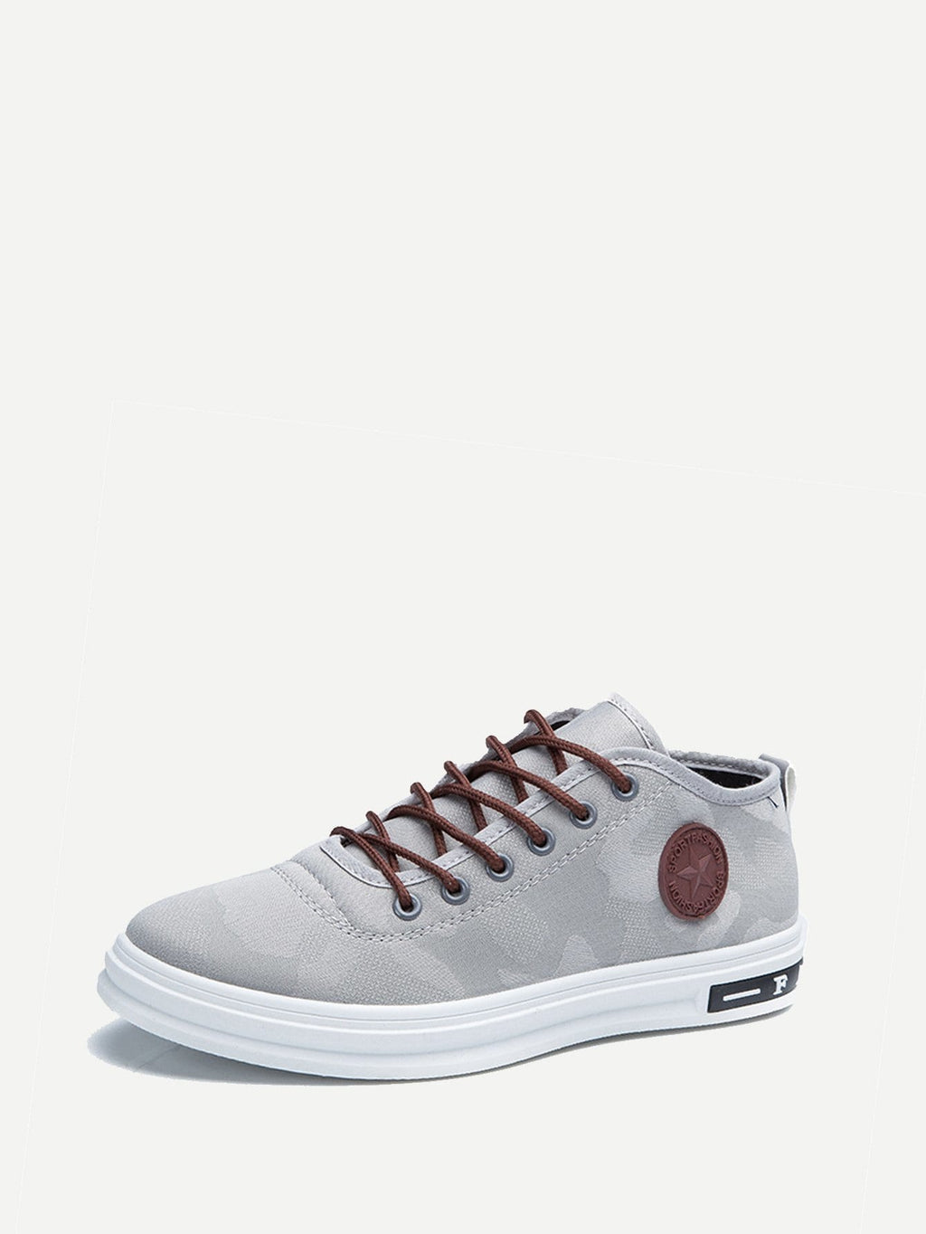Running Shoes For Men - Lace Up PU Sneakers