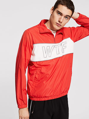 Men's Track Jackets - Zip Front Color Block Letter Jacket