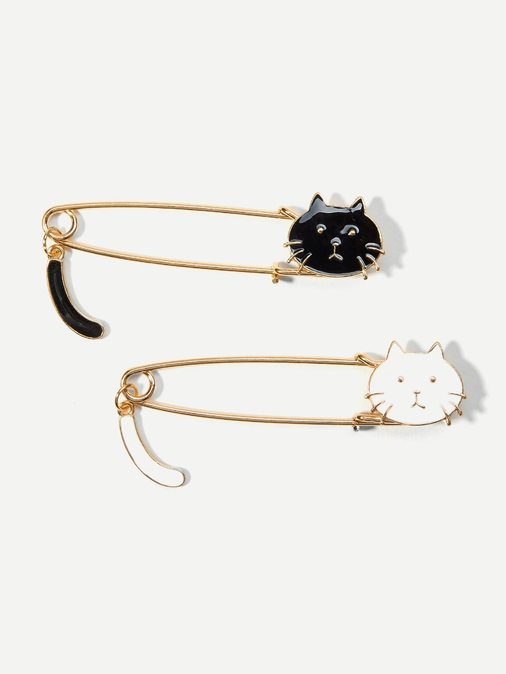 Womens Brooches - Cat Design Brooch Set 2Pcs