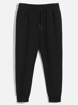 Pajamas - Men Drawstring Waist and Elastic Hem Joggers