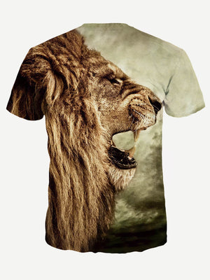T-Shirts For Men - Lion Print Tee