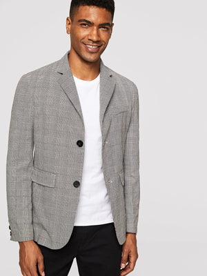 Men's Blazers - Single Breasted Glen Plaid Blazer