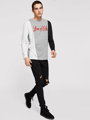 T-Shirts For Men - Color Block Letter Print Tee