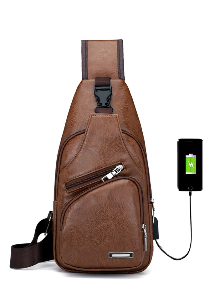 Shoulder Bags - Men USB Charging Port Bum Bag