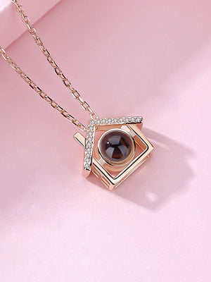 Jewelry For Women - House Pendant Light Projection Chain Necklace