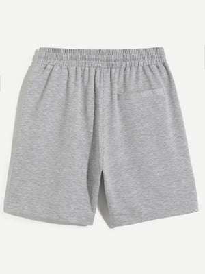Men's Shorts - Drawstring Waist Heathered Sweat Shorts
