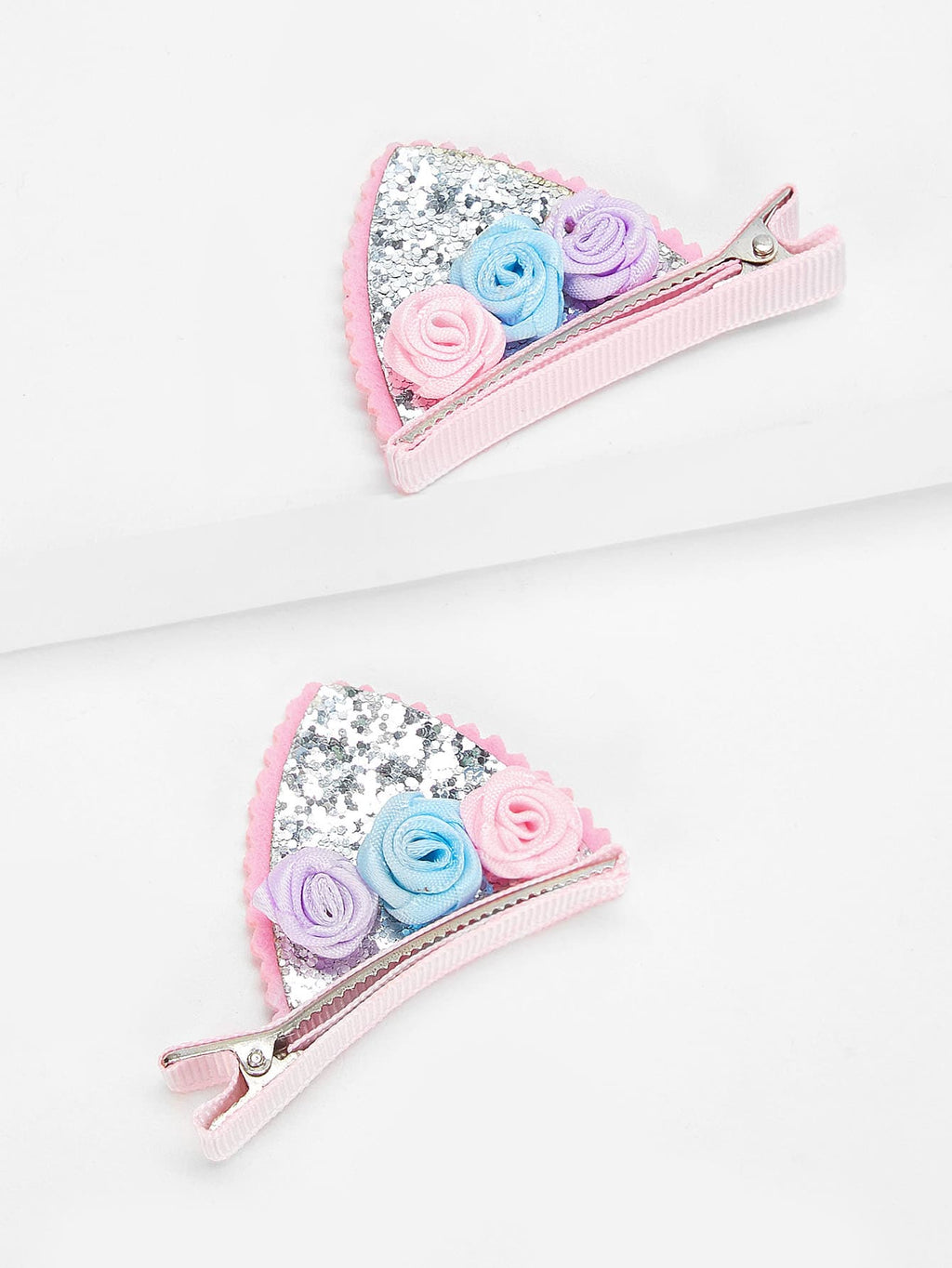 Kids Accessories - Girls Flower Decorated Hair Clip 2pcs