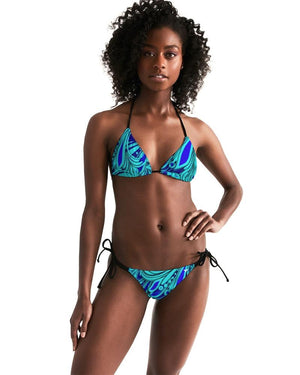 Find Your Coast Modern Beach Padded Triangle String Bikini UPF 50