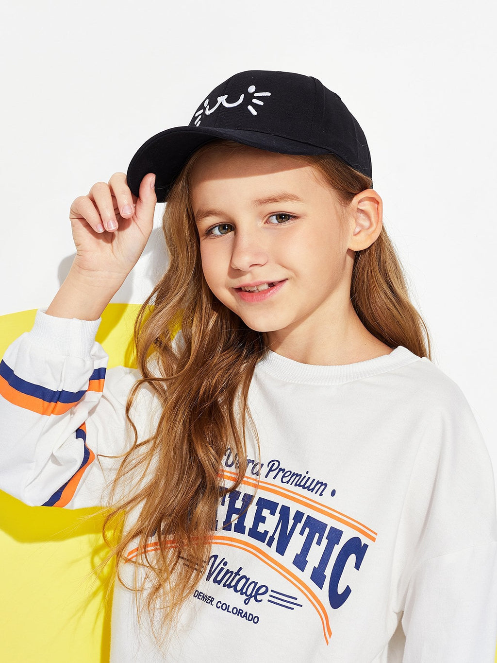 Kids Caps - Boys Embroidery Baseball Cap