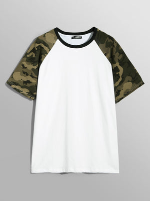 Men's Clothing - Camo Raglan Sleeve T-shirt