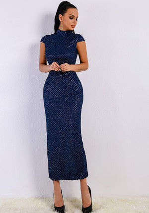 Women Dresses - High Neck Cocktail Dress